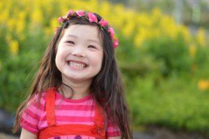 女の子笑顔